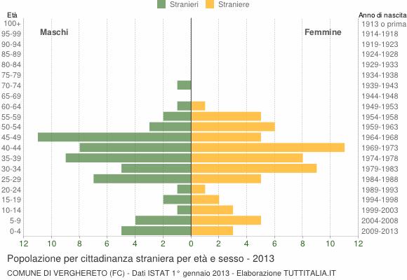 Grafico cittadini stranieri - Verghereto 2013