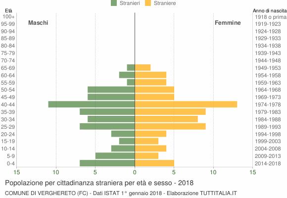 Grafico cittadini stranieri - Verghereto 2018