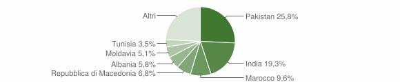 Grafico cittadinanza stranieri - Gualtieri 2010