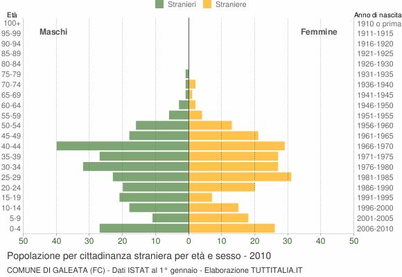 Grafico cittadini stranieri - Galeata 2010