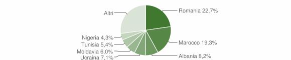 Grafico cittadinanza stranieri - Loiano 2019