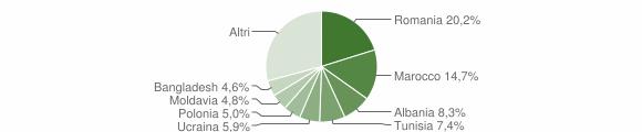 Grafico cittadinanza stranieri - Pianoro 2010