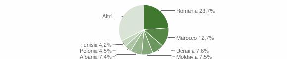 Grafico cittadinanza stranieri - Pianoro 2015