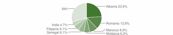 Grafico cittadinanza stranieri - Traversetolo 2019