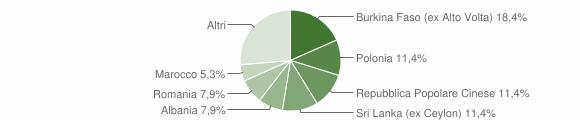 Grafico cittadinanza stranieri - Rocca San Casciano 2015