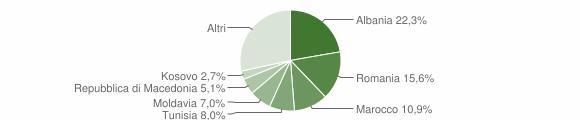 Grafico cittadinanza stranieri - Salsomaggiore Terme 2015