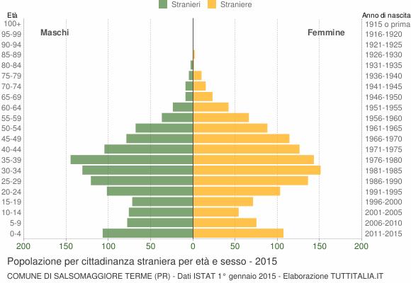 Grafico cittadini stranieri - Salsomaggiore Terme 2015