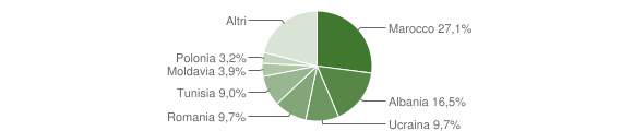 Grafico cittadinanza stranieri - San Polo d'Enza 2010