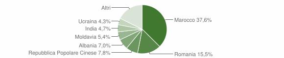 Grafico cittadinanza stranieri - Bondeno 2016