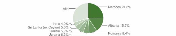 Grafico cittadinanza stranieri - Cavriago 2010