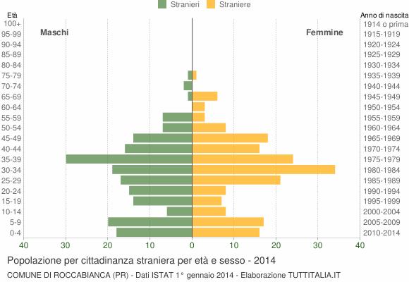 Grafico cittadini stranieri - Roccabianca 2014