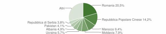 Grafico cittadinanza stranieri - Castel Maggiore 2015