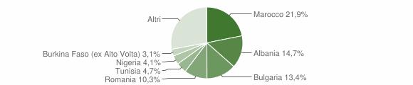 Grafico cittadinanza stranieri - Sogliano al Rubicone 2014
