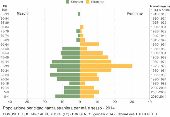 Grafico cittadini stranieri - Sogliano al Rubicone 2014