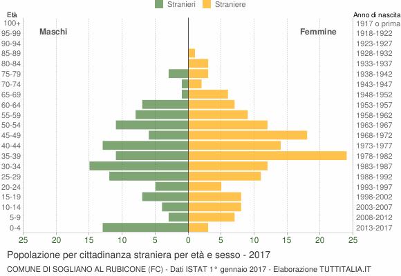 Grafico cittadini stranieri - Sogliano al Rubicone 2017