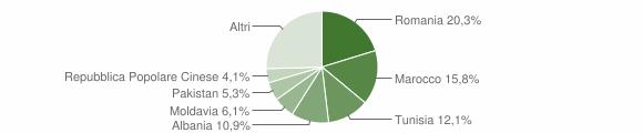 Grafico cittadinanza stranieri - Sala Bolognese 2015