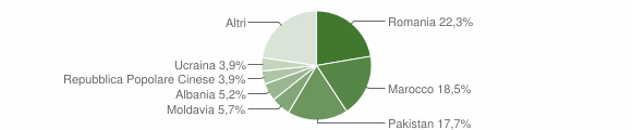 Grafico cittadinanza stranieri - Calderara di Reno 2017