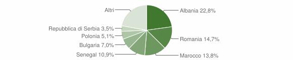 Grafico cittadinanza stranieri - Meldola 2010