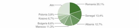Grafico cittadinanza stranieri - Meldola 2019