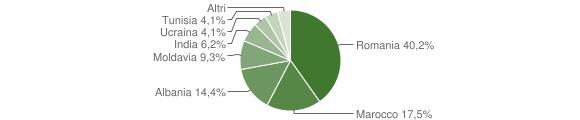 Grafico cittadinanza stranieri - Palanzano 2010