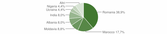 Grafico cittadinanza stranieri - Palanzano 2019