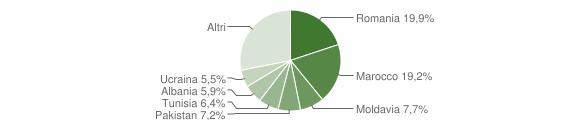 Grafico cittadinanza stranieri - Budrio 2012