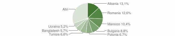 Grafico cittadinanza stranieri - Cesena 2011