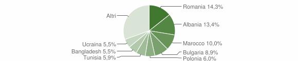 Grafico cittadinanza stranieri - Cesena 2013