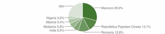 Grafico cittadinanza stranieri - San Felice sul Panaro 2013