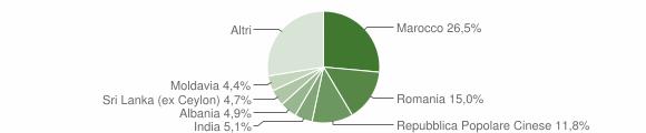 Grafico cittadinanza stranieri - San Felice sul Panaro 2019