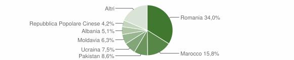 Grafico cittadinanza stranieri - Malalbergo 2019