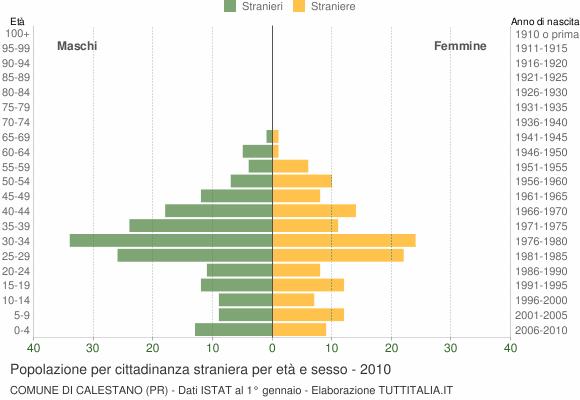 Grafico cittadini stranieri - Calestano 2010