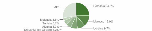 Grafico cittadinanza stranieri - Bentivoglio 2018