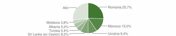 Grafico cittadinanza stranieri - Bentivoglio 2019