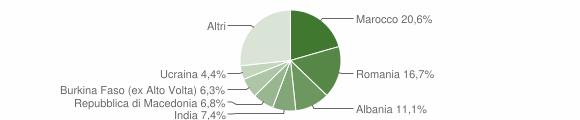 Grafico cittadinanza stranieri - Cadeo 2019
