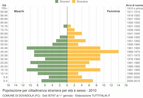 Grafico cittadini stranieri - Dovadola 2010