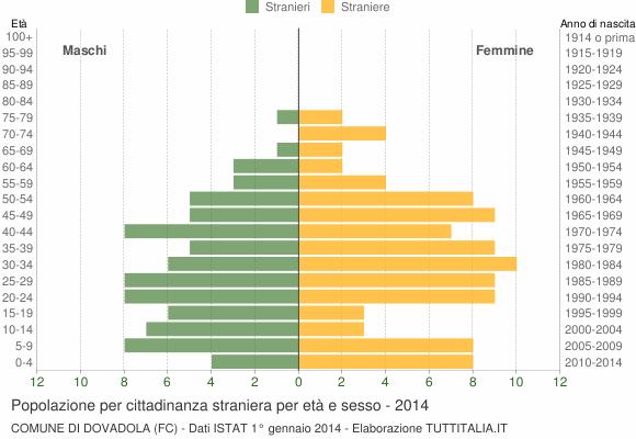Grafico cittadini stranieri - Dovadola 2014