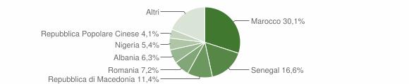 Grafico cittadinanza stranieri - Fusignano 2006
