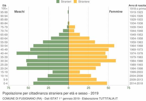 Grafico cittadini stranieri - Fusignano 2019