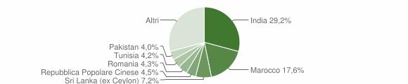 Grafico cittadinanza stranieri - Castelnovo di Sotto 2019