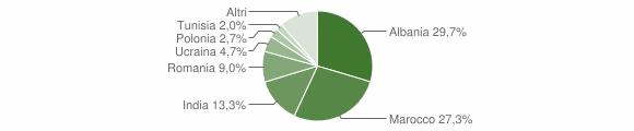 Grafico cittadinanza stranieri - Carpineti 2010