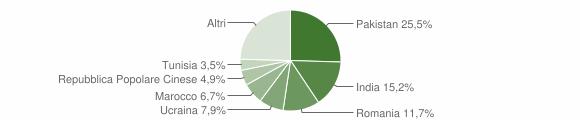 Grafico cittadinanza stranieri - Correggio 2019