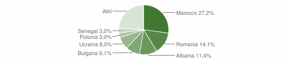 Grafico cittadinanza stranieri - Mercato Saraceno 2016
