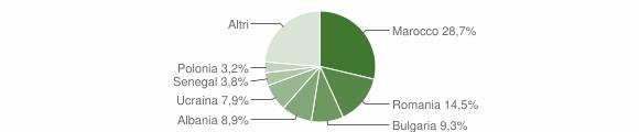 Grafico cittadinanza stranieri - Mercato Saraceno 2017