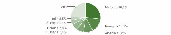 Grafico cittadinanza stranieri - Mercato Saraceno 2018