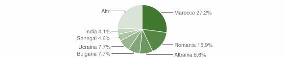 Grafico cittadinanza stranieri - Mercato Saraceno 2019