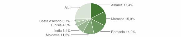 Grafico cittadinanza stranieri - Noceto 2015