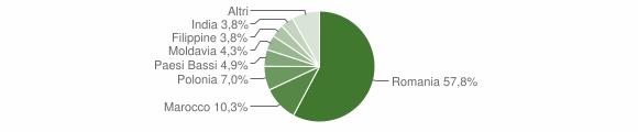 Grafico cittadinanza stranieri - Lizzano in Belvedere 2012