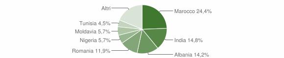 Grafico cittadinanza stranieri - Polinago 2019