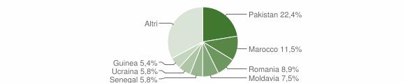 Grafico cittadinanza stranieri - Boretto 2019